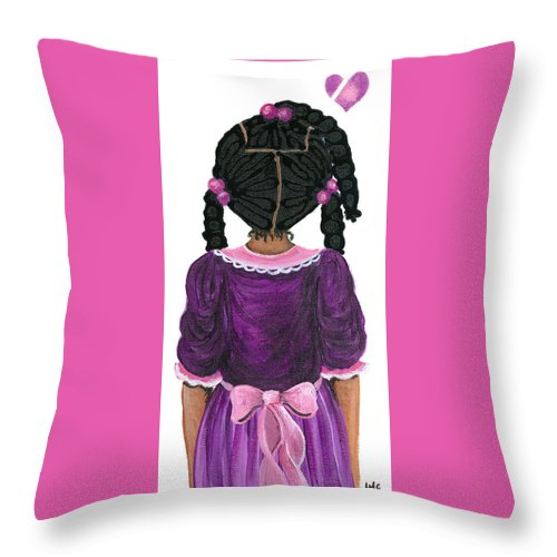 Throw Pillow featuring the painting Precious by Sonja Griffin Evans
