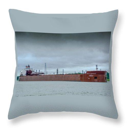 Paul R Tregurtha Throw Pillow featuring the photograph Paul R. Tregurtha by Randy J Heath