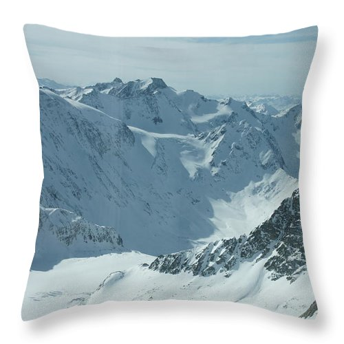 Pitztal Glacier Throw Pillow featuring the photograph Pitztal Glacier by Olaf Christian