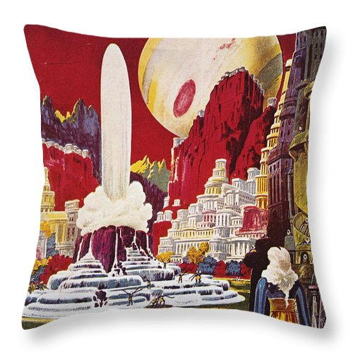 1941 Throw Pillow featuring the photograph Science Fiction Magazine by Granger