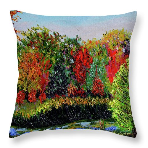 Plein Air Throw Pillow featuring the painting Sewp 10 10 by Stan Hamilton