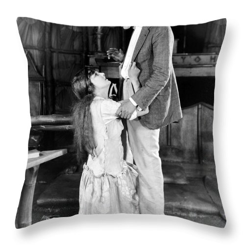 -one Man One Woman- Throw Pillow featuring the photograph Silent Still: Man & Woman by Granger