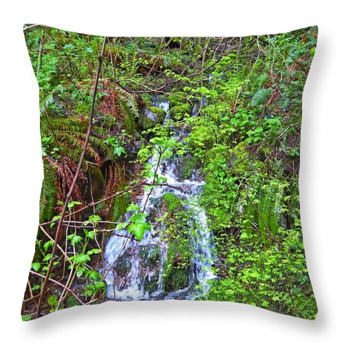 Hamilton Mountain Throw Pillow featuring the photograph Spring In The Gorge by Mark Miskiewicz