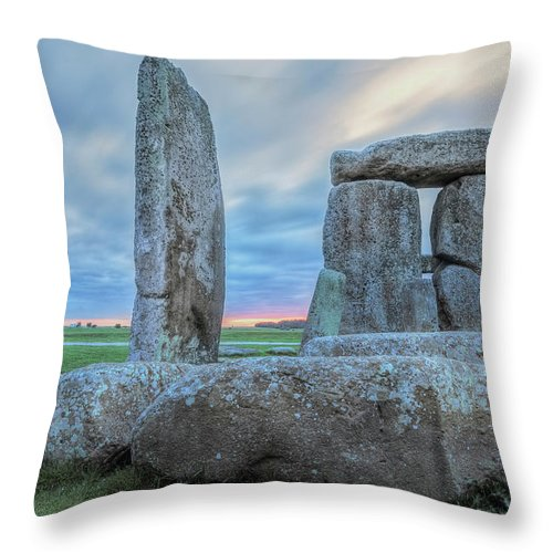 Stonehenge Throw Pillow featuring the photograph Stonehenge - England by Joana Kruse