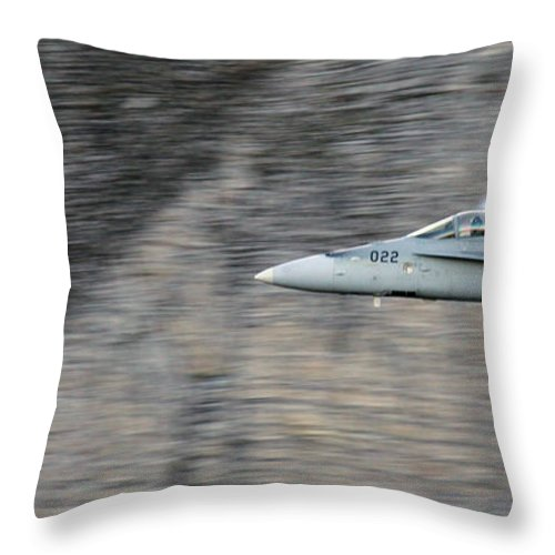 Axalp Throw Pillow featuring the photograph Supersonic by Angel Ciesniarska
