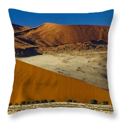 Africa Throw Pillow featuring the photograph The Dunes Of Sossusvlei by Michele Burgess