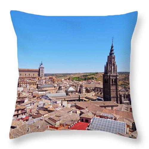 Spain Throw Pillow featuring the photograph Toledo, Spain by Karol Kozlowski