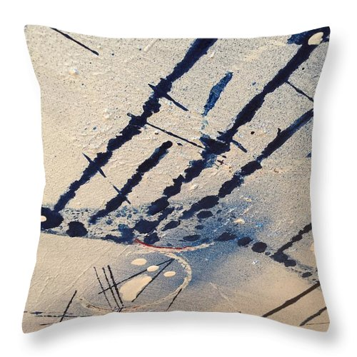 Abstract Throw Pillow featuring the painting Untitled by Kyle Braund
