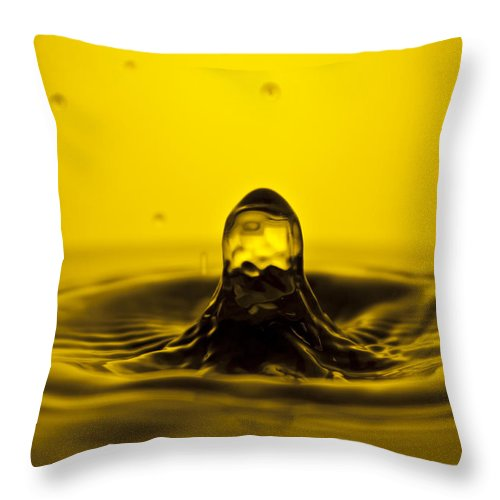 Water Throw Pillow featuring the photograph Water Droplet Jet by Dustin K Ryan