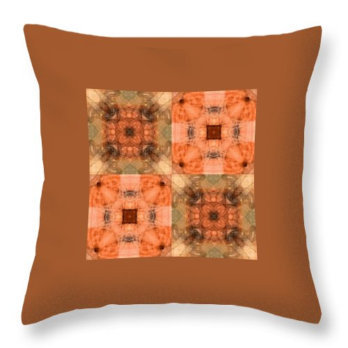 Desertcoyote Throw Pillow featuring the digital art 30mt5t18 by Randy Nile