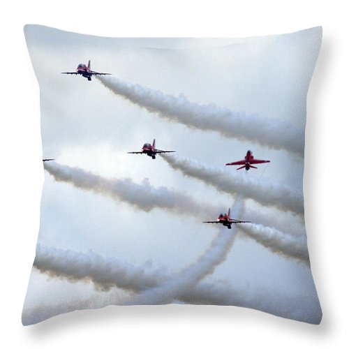 Throw Pillow featuring the photograph Red Arrows by Angel Ciesniarska