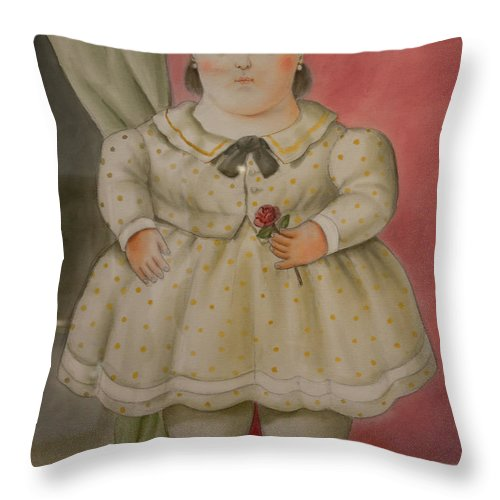 Bogota Throw Pillow featuring the digital art Bogota Museo Botero by Carol Ailles
