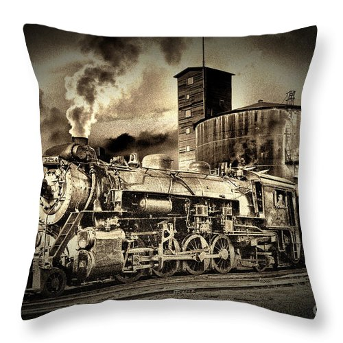 Railroad Throw Pillow featuring the photograph 3254 In Old-time Look by Paul W Faust - Impressions of Light