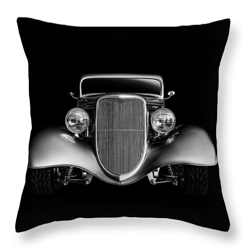 Transportation Throw Pillow featuring the digital art '33 Ford Hotrod 33 by Douglas Pittman