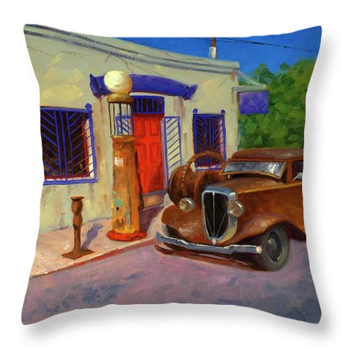 Studebaker Throw Pillow featuring the painting 33 Studebaker 33 by Cody DeLong