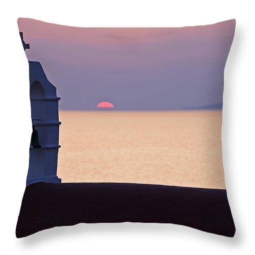 Mykonos Throw Pillow featuring the photograph Mykonos by Joana Kruse