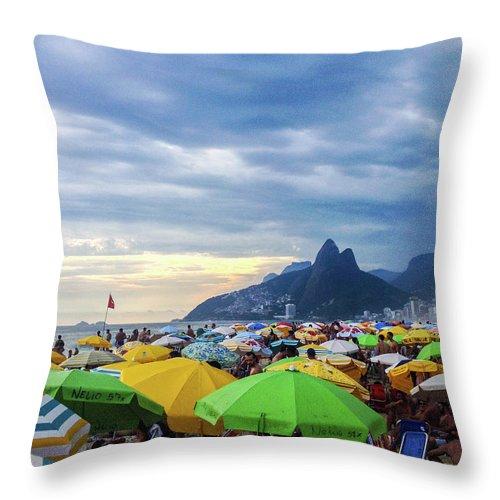Mountain Throw Pillow featuring the photograph Rio de Janeiro by Cesar Vieira