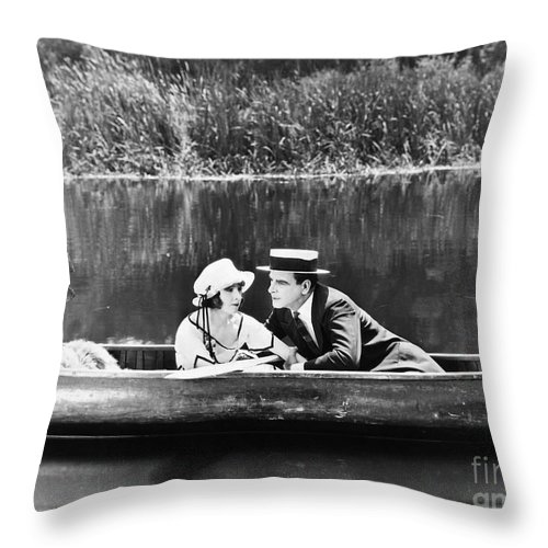 -couples- Throw Pillow featuring the photograph Silent Film Still: Couples by Granger