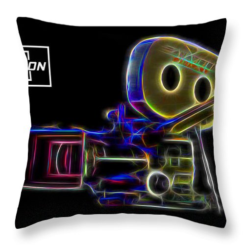 Panavision Throw Pillow featuring the digital art 35mm Panavision by Aaron Berg