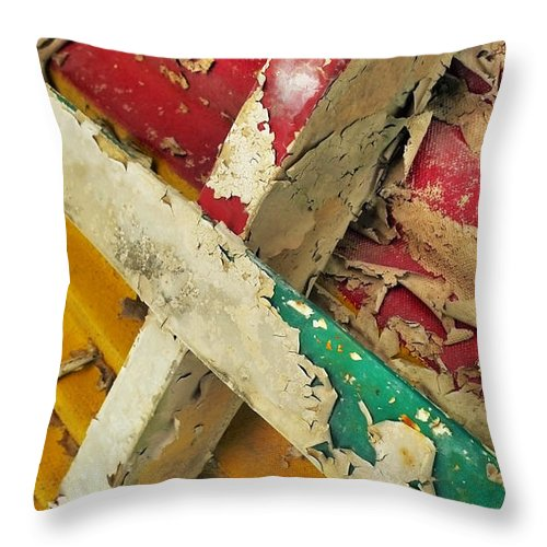 Abstract Throw Pillow featuring the photograph 377 At 41 Series 1 by Skip Hunt