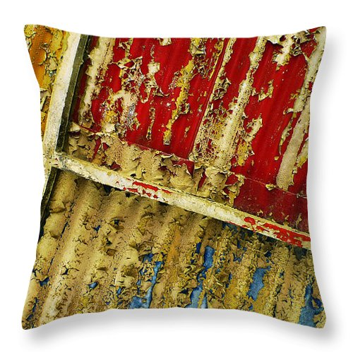Abstract Throw Pillow featuring the photograph 377 At 41 Series 6 by Skip Hunt