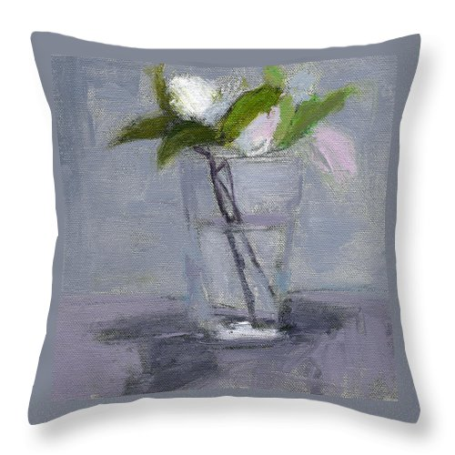 Flower Throw Pillow featuring the painting Rcnpaintings.com by Chris N Rohrbach
