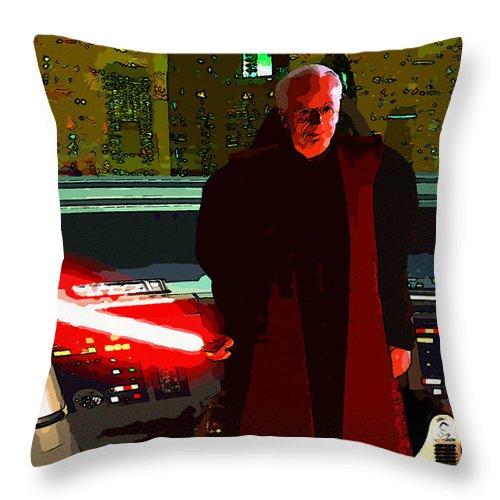 Star Wars Throw Pillow featuring the digital art Star Wars by Elena Kosvincheva