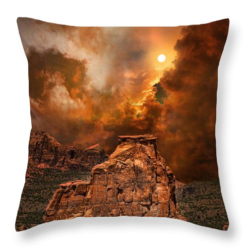 Rocks Throw Pillow featuring the photograph 3881 by Peter Holme III