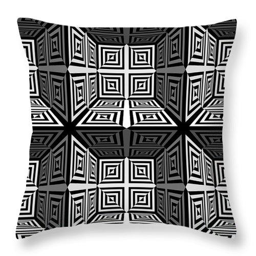 S Throw Pillow featuring the digital art 3d 253d2 by Mike McGlothlen