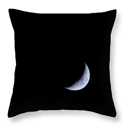 Moon Throw Pillow featuring the photograph 4/20/18- 400mm by Michael Duhon