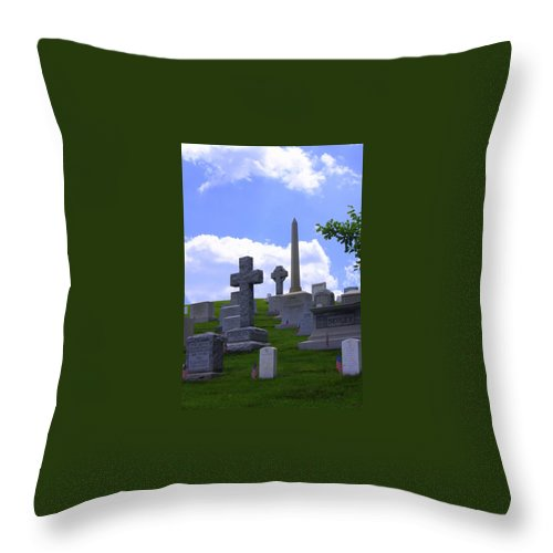 Washington Dc May 2014 Throw Pillow featuring the photograph Arlington Cemetery by William Rogers
