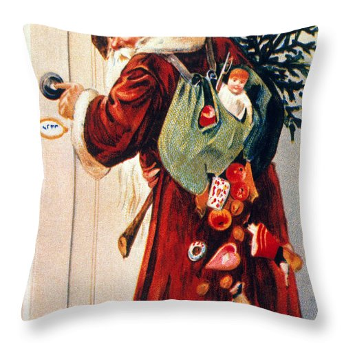19th Century Throw Pillow featuring the photograph Christmas Card by Granger