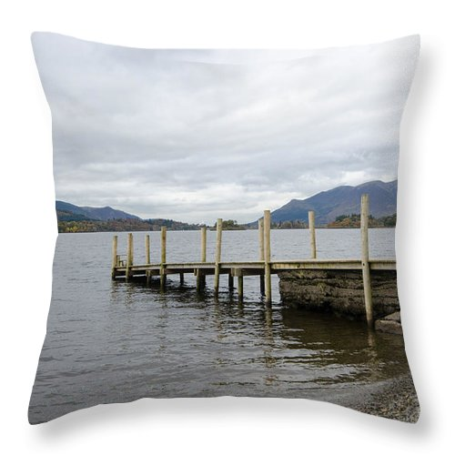 Lake Throw Pillow featuring the photograph Derwentwater by Smart Aviation
