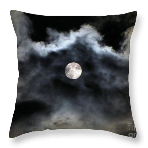 Lunar Throw Pillow featuring the photograph Lisas Wildlife Moons 2 by September Stone