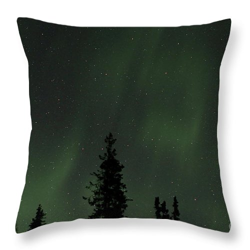 Aurora Throw Pillow featuring the photograph Northern Glow by Rick Monyahan