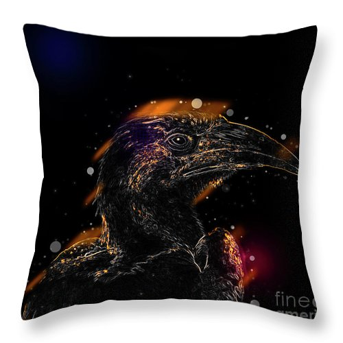 Red-billed Throw Pillow featuring the photograph Red-billed Hornbill ,samburu, Kenya by Humourous Quotes