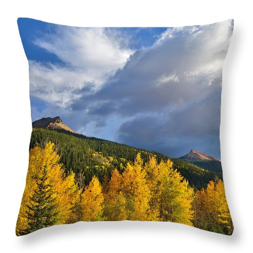 Colorado Throw Pillow featuring the photograph Red Mountain Sunset by Ray Mathis