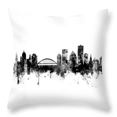 Rochester New York Skyline Throw Pillow For Sale By Michael Tompsett