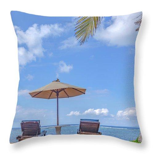 Sanur Beach Throw Pillow featuring the photograph Sanur Beach - Bali by Joana Kruse