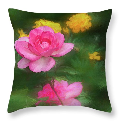 Flowers Throw Pillow featuring the photograph Summer Flowers by Vladimir Kholostykh