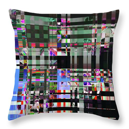 Abstract Throw Pillow featuring the digital art 4 U 343 by John Saunders