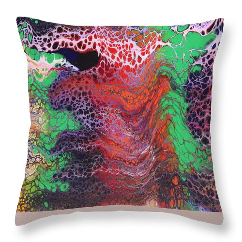 Throw Pillow featuring the painting Untitled by Joe Fomby
