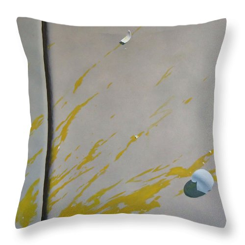 Street Scene Throw Pillow featuring the painting Untitled 5 by Philip Fleischer