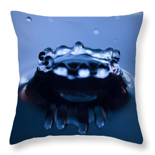 Water Throw Pillow featuring the photograph Water Droplet Crown by Dustin K Ryan