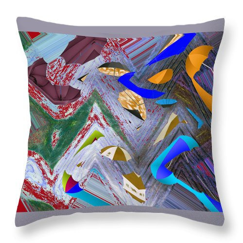Abstract Throw Pillow featuring the digital art 44 U 172 by John Saunders