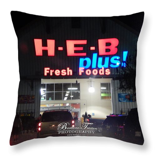 Barbara Tristan Throw Pillow featuring the photograph #4570_heb_0 by Barbara Tristan