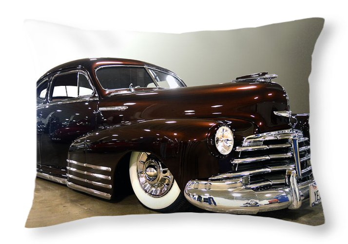 Chevy Throw Pillow featuring the photograph 48 Chevy by Bill Dutting