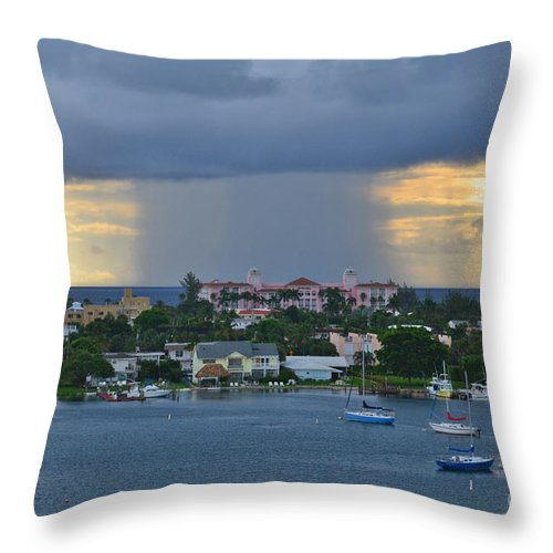 Storm Throw Pillow featuring the photograph 48 Nuclear Storm by Joseph Keane