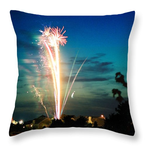 Landscape Throw Pillow featuring the photograph 4rth Of July by Steve Karol