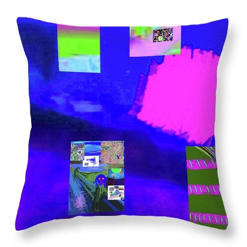 Walter Paul Bebirian Throw Pillow featuring the digital art 5-14-2015gabcdef by Walter Paul Bebirian